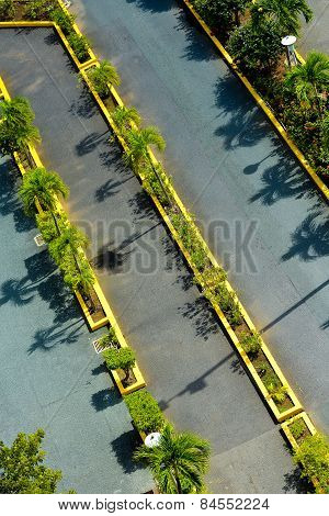 Empty Parking Viewed From Above