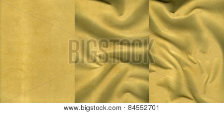 Set Of Soft Orange Suede Leather Textures