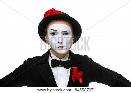 Portrait Of The Doubting Mime