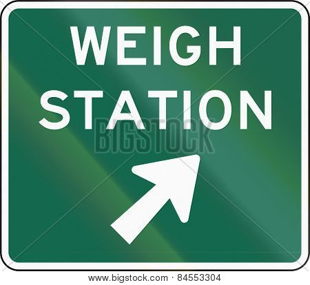 Weigh Station Sign