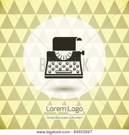 Typewriter logo icon