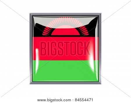 Square Icon With Flag Of Malawi