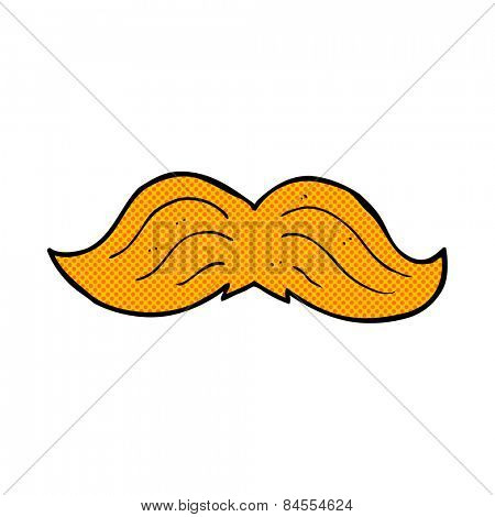 retro comic book style cartoon ginger mustache