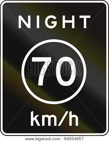 Metric Night Speed Limit Sign