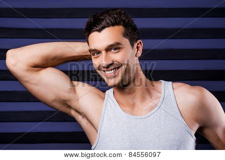 Muscular Handsome Man.