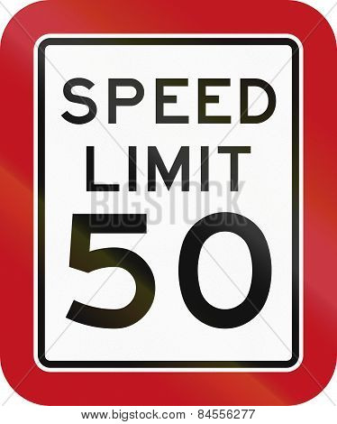 Texas Speed Limit Sign