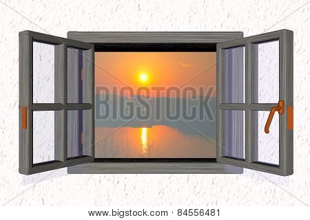 Sunset From A Window
