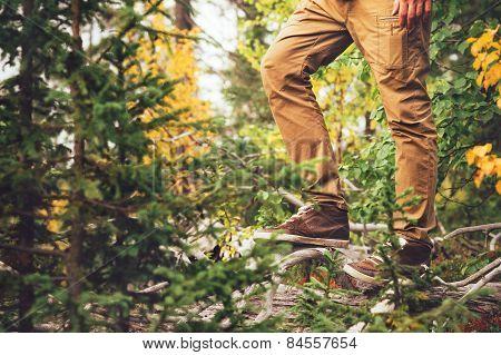 Feet Man walking Outdoor Travel Lifestyle Fashion