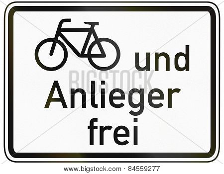 Cyclists And Residents Allowed