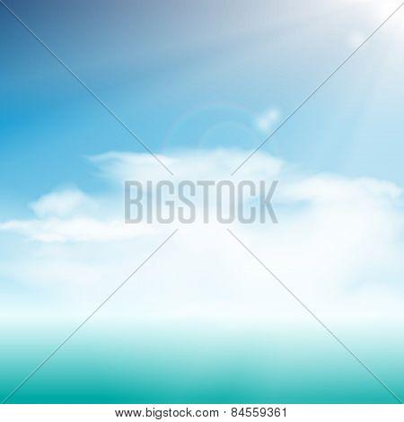 vector summer seascape