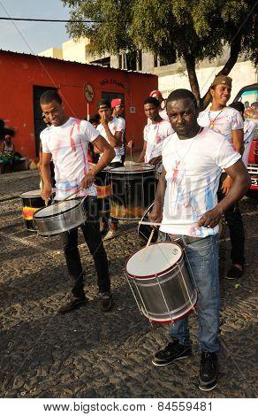 Drummers Practicing