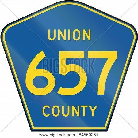 County Route Shield - Union County