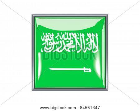 Square Icon With Flag Of Saudi Arabia