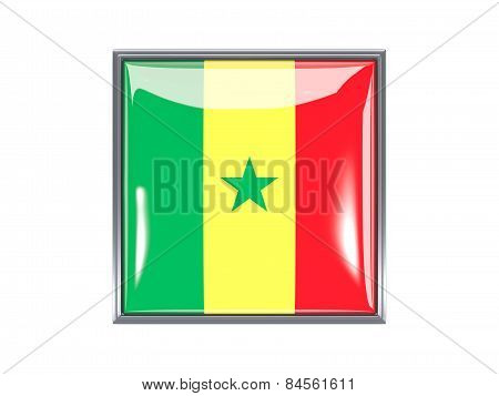 Square Icon With Flag Of Senegal