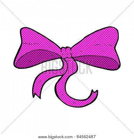 retro comic book style cartoon bow