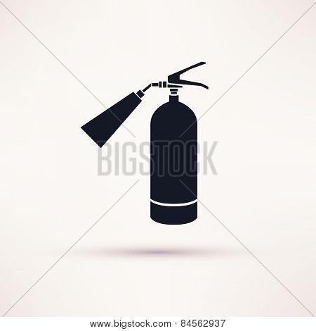 Fire extinguisher icon black on the light