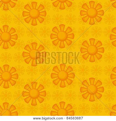 seamless pattern.decorative suns.