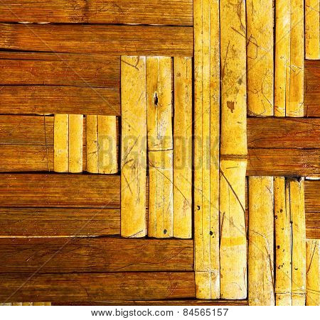 Abstract Cross Bamboo Y Asia And South China Sea