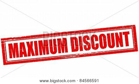 Maximum Discount