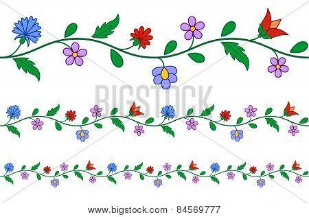 Horizontally Seamless Hungarian Embroidery Pattern