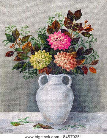 Painting Flowers Dahlias