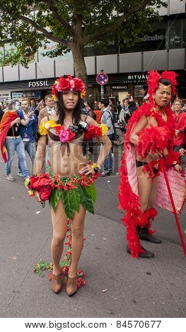 Elaborately Dressed Transgender, During Gay Pride Parade