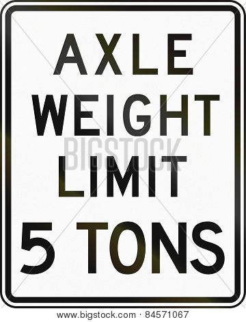 Axle Weight Limit 5 Tons