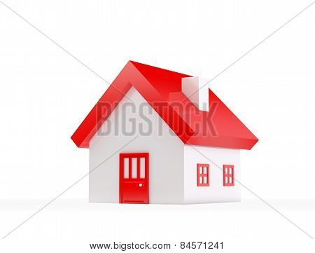 House , Isolated On White