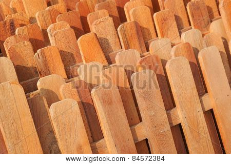 Rows Of Wooden Fences
