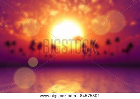 Tropic Sea Blurred