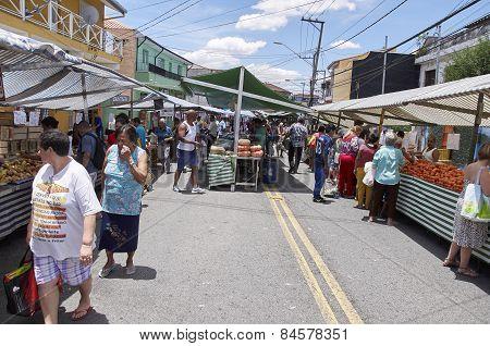 Traditional Street Fair Of Sao Paulo City