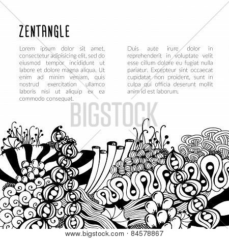 Zentangle card template