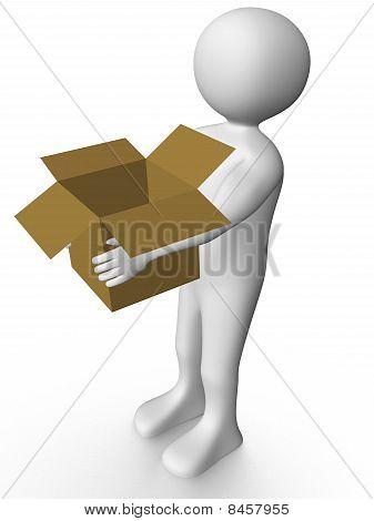 Man Carrying A Box