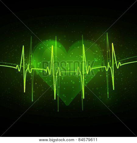 Abstract cardiogram