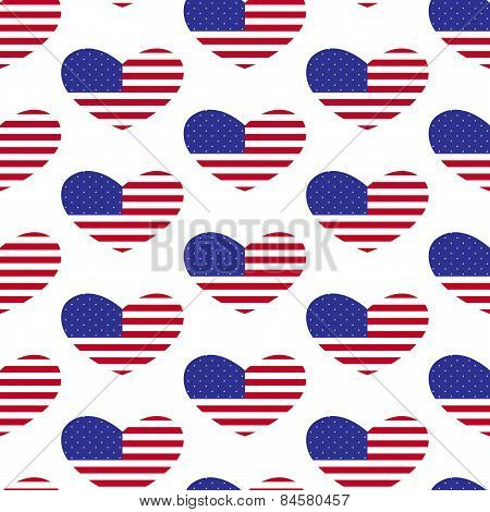 American Flag Heart Pattern