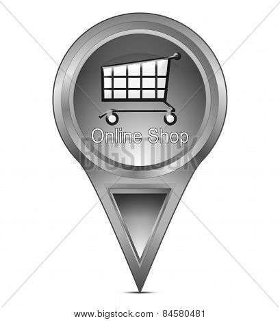 map pointer with online Shop