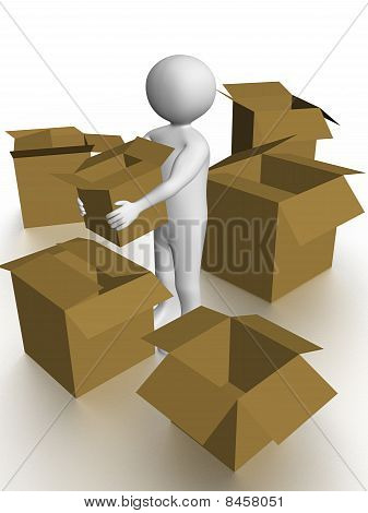 Man Carrying A Box