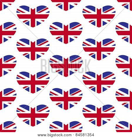 Union Jack Heart Pattern