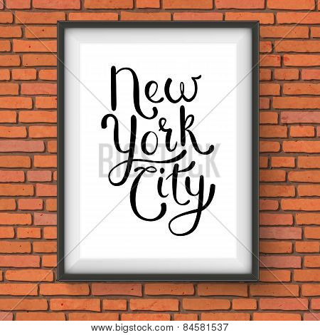 Simple New York City Concept on a Hanging Frame