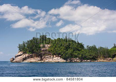 Coastline Of Mahe Island, Seychelles