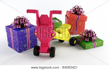 Children's Toy With A Gift Box