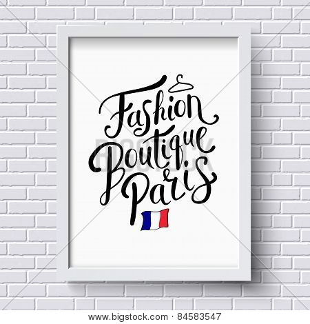Fashion Boutique Paris Concept on a Frame