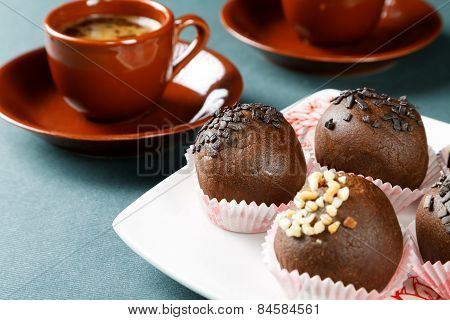 Still-life With A Cup Of Coffee And Cakes