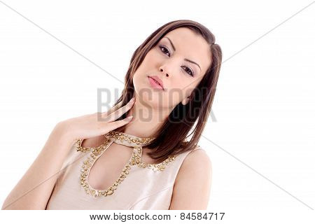 Portrait Of Beautiful Lady