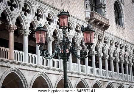 Beautiful Ornate Lampposts In Piazza San Marco