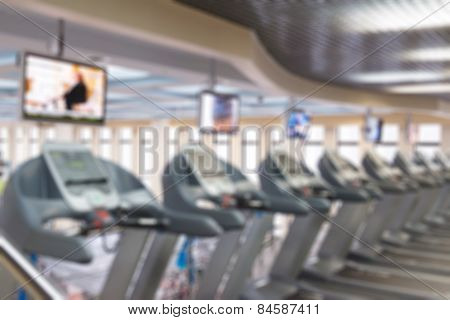 Fitness centre blur background