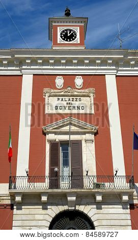 Palace of the prefecture in the main square of Bari apulia. Italia
