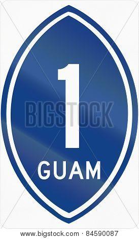 Guam Territorial Highway Shield