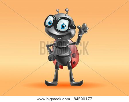 funny aviator pilot ladybug
