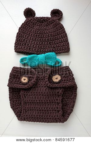 handmade crochet newborn costume